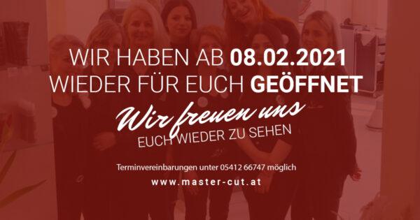 MasterCut - Lockdown Ende - Friseur Imst